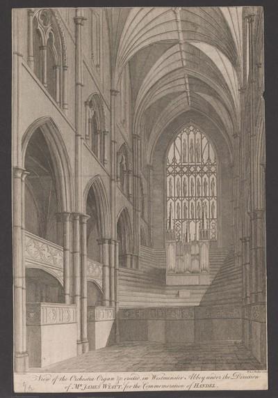 London, Westminster Abbey, Einrichtung zur Händel-Gedächtnisfeier 1784