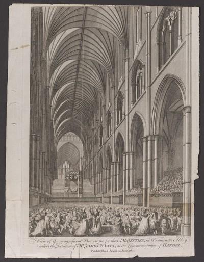 London, Westminster Abbey, Händel- Gedächtnisfeier 1784