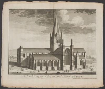 Oxford, Cathedral Church, Nordansicht