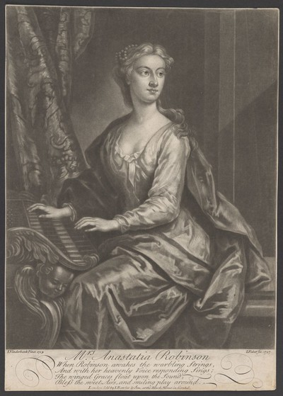 Porträt Anastasia Robinson, später Gräfin von Peterborough (1698-1755)