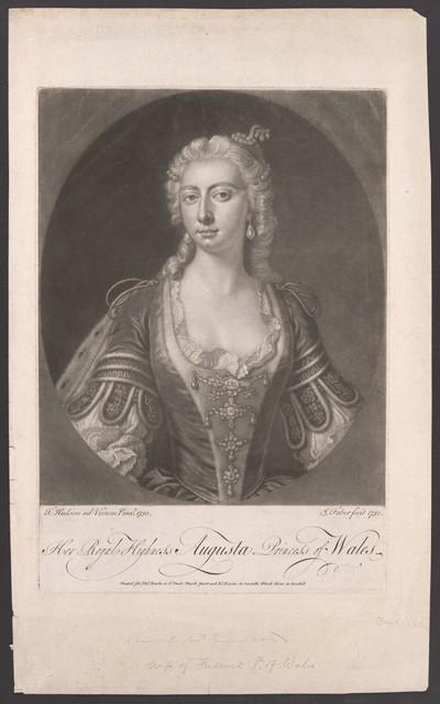 Porträt Augusta von Sachsen-Gotha-Altenburg (1719-1772)