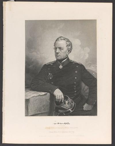 Porträt Helmuth Karl Bernhard, Graf von Moltke (1800-1891)