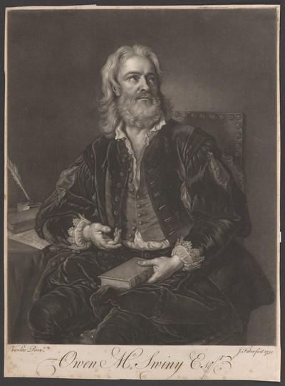 Porträt Owen McSwiny (ca. 1675-1754)