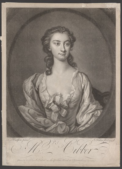 Porträt Susanna Maria Cibber (1714-1766)