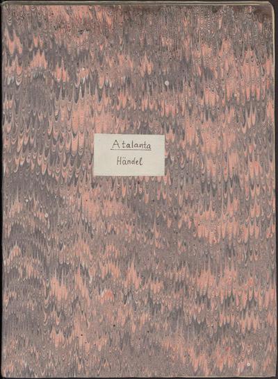 Atalanta, an opera