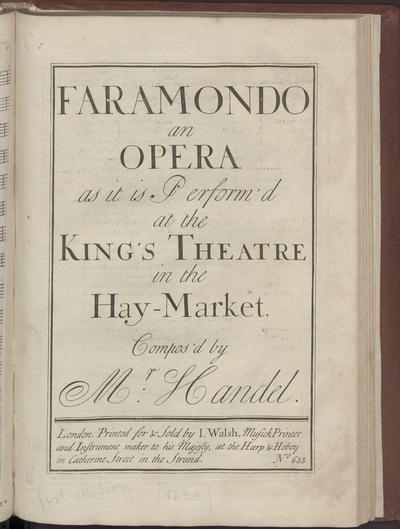 Faramondo, an opera