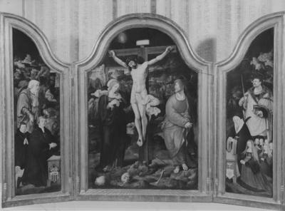 De KANIS - TRIPTIEK : het drieluik van het echtpaar Kanis-van Houweningen  (Jacob Kanis en Jeliske van Houweningen) (ouders  van Peter Kanis (de latere Petrus Canisius),  geschilderd 1527/1529 door een onbekend meester