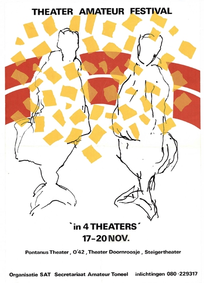 Theater Amateur Festival in 4 theaters van 17 tot 20 november: het Pontanustheater. O42 Politiek Kultureel Centrum, Theater Doornroosje en het Steigertheater. Georganiseerd door SAT: Secretariaat Amateur Toneel.