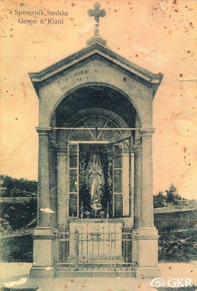 Spomenik lurdske gospe u Klani