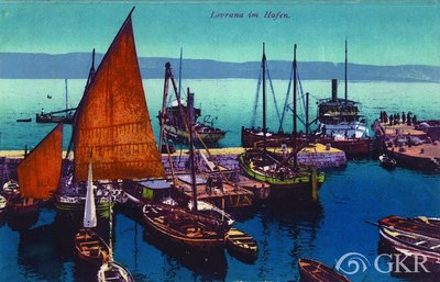 Lovrana im Hafen