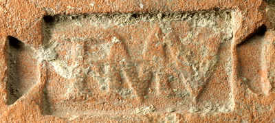 tile with stamp: TMV