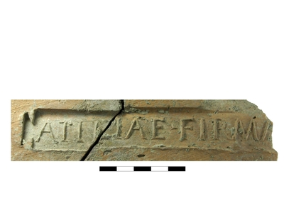 tile with stamp: Atiliae Firma