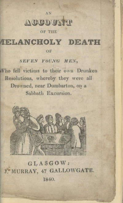 Account of the melancholy death of seven young men