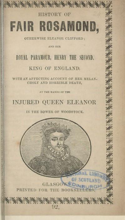 History of Fair Rosamond