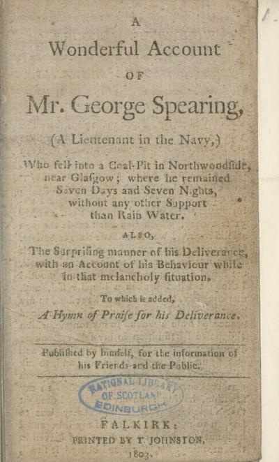 Wonderful account of Mr. George Spearing