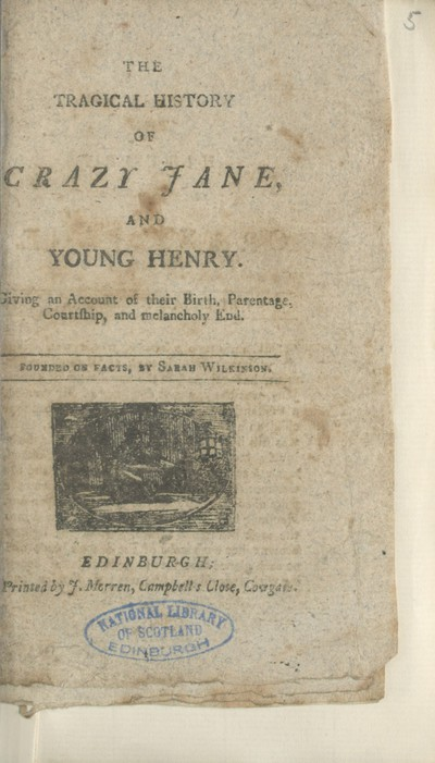 Tragical history of Crazy Jane, and young Henry