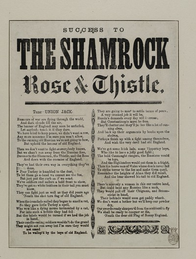 Success to the shamrock rose & thistle