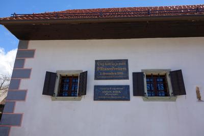 Preseren House 2013 memorial plaque