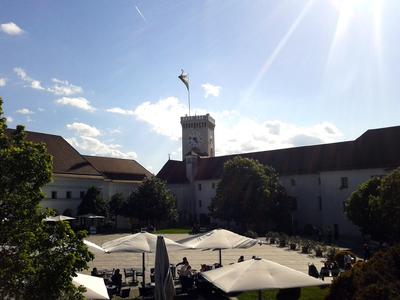 Ljubljana Castle 2012 courtyard