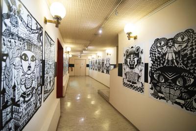 Animateka International Animated Film Festival 2017 Caroline Sury exhibition Kinodvor Photo Katja Goljat