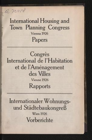 Papers : Vienna 1926