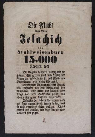 Flucht des Ban Jelachich von Stuhlweisenburg ; 15,000 Croaten todt : [Oktober 1848]