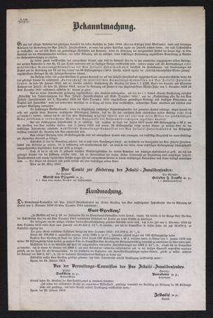 Bekanntmachung : Es war das eifrigste Bestreben des gefertigten Comité's seit dessen Entstehen im Jahre 1849 ... ; Wien am 28. März 1852