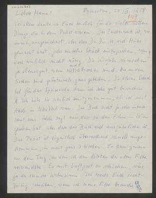 Brief an Marianne Gödel