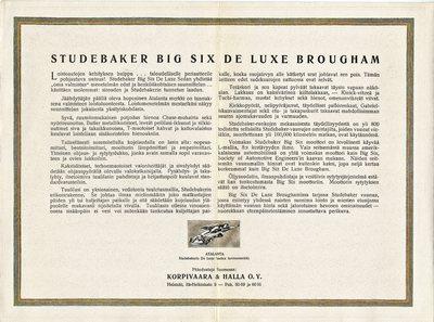Studebaker Big Six De Luxe Brougham