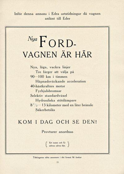 Låt oss göra historia då vi presentera den nya Ford-vagnen