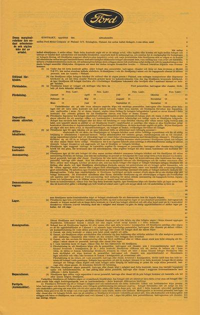Detalj-under försäljare kontrakt