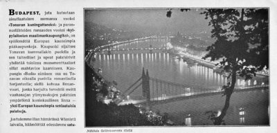 Tulkaa katsomaan Budapestia