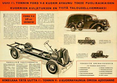 Ford esittelee nyt vuoden 1938 uuden kuormavaunusarjan, joukossa kokonaan uusi 1 1/2 tonnin alusta