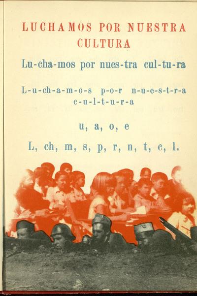 Cartilla Escolar Antifascista y Cartilla Aritmética Antifascista