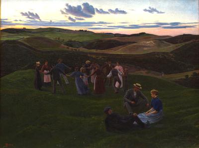 Evening Game in Svanninge Hills