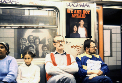 We Are Not Afraid campaign, NYC subways