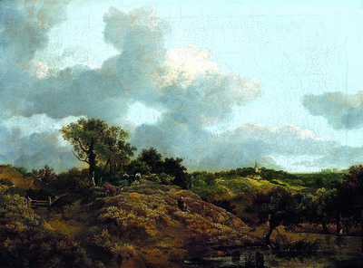 Wooded Landscape with a Herdsman Seated