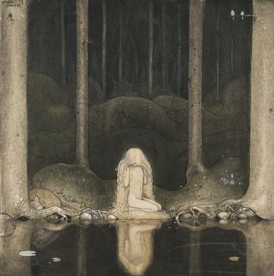 Ännu sitter Tuvstarr kvar och ser undrande ner i vattnet