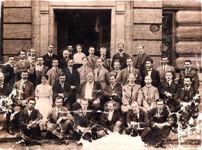 The graduates of the Royal Technical Academy, Berlin, 			Charlottenburg: the 1914 class. (Elisa Leonida: second row, left)The graduates of the 			Royal Technical Academy, Berlin, Charlottenburg: the 1914 class.