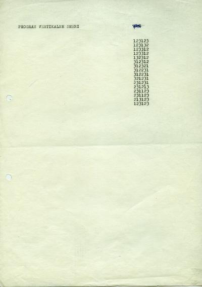 Programmed Print - the Vertical Line Program