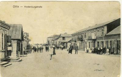 Olita - Hindenburgstraße. 1934