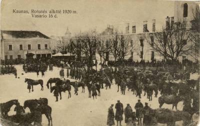 Kaunas, Rotušės aikštė 1920 m. Vasario 16 d.