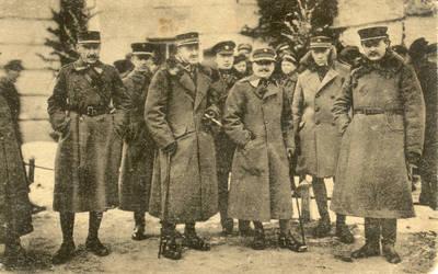 Atvirukas. Rotušės aikštė Kaune 1920 m. Vasario 16 d.