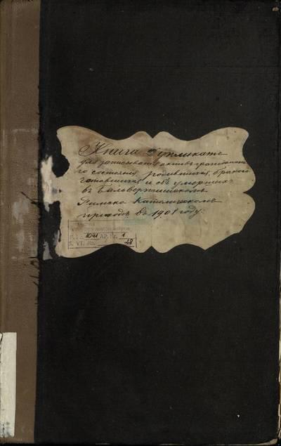 Balbieriškio RKB gimimo, santuokos ir mirties metrikų knyga (dublikatas). 1908 m.