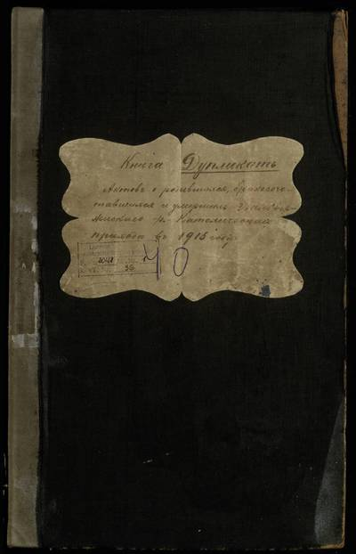 Balbieriškio RKB gimimo, santuokos ir mirties metrikų knyga (dublikatas). 1915 m.