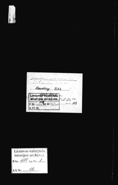 Raudėnų RKB 1927--1937 m. (baigiasi balandžio mėn.) mirties metrikų knyga bei 1937 m. balandžio -- 1940 m. rugpjūčio mėn. mirties protokolų knyga. 1927--1940 m.