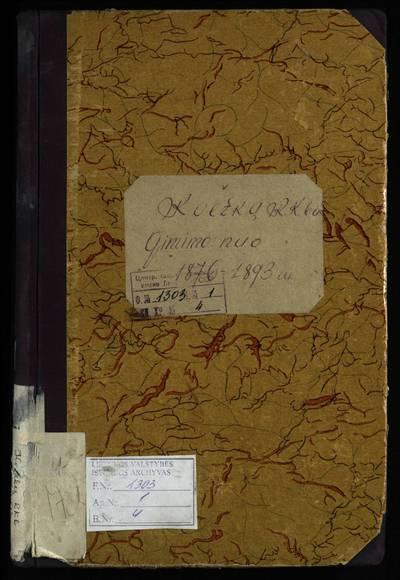 Kvetkų RKB (1876--1893 m., 1901 m.) gimimo metrikų knyga. 1876--1893 m., 1901 m.