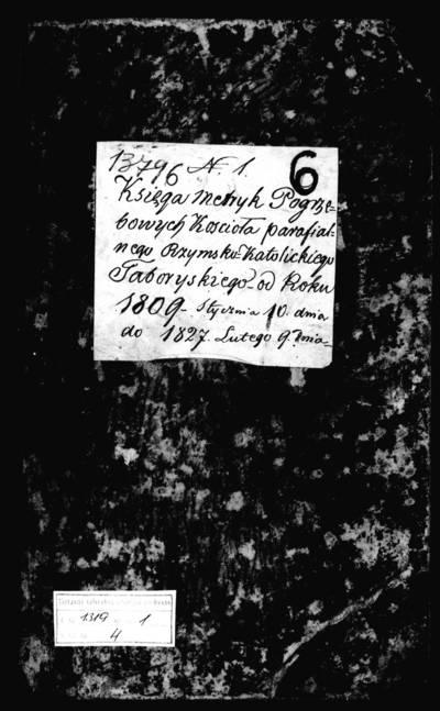 Tabariškių RKB mirties metrikų knyga (yra abėcėlinė rodyklė). 1809--1827 m.
