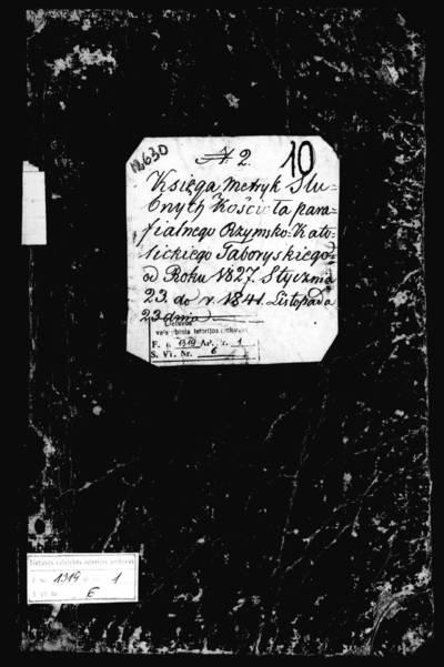 Tabariškių RKB santuokos metrikų knyga (yra abėcėlinė rodyklė). 1827--1841 m.