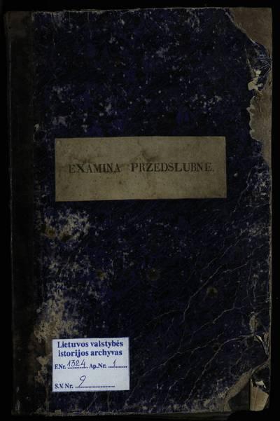 Eišiškių RKB 1860--1864 m., 1889 m. priešsantuokinės apklausos knyga. 1860--1864 m., 1889 m.